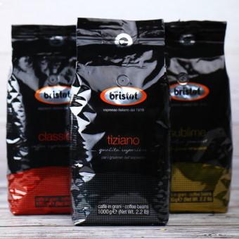 кофе в зернах bristot